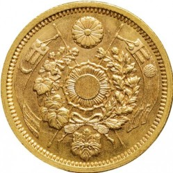 Монета > 5йен, 1872-1897 - Япония  - reverse