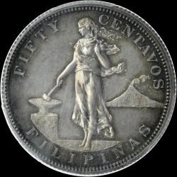 Monēta > 50sentavo, 1903-1906 - Filipīnas  - reverse