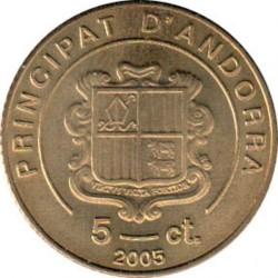 Moneta > 5cèntims, 2005 - Andora  (Śmierć Papieża Jana Pawła II) - obverse