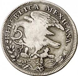"""Moneda > 8reales, 1824 - Mèxic  (Amb """"*"""" abans del valor nominal) - obverse"""