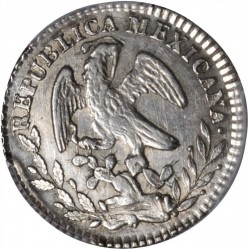 Münze > 1Real, 1825-1869 - Mexiko  - obverse