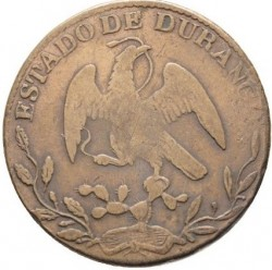 Moneda > ¼ real, 1858 - México  (Coat of Arms on obverse) - obverse