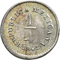 Νόμισμα > ¼Ρεάλ, 1842-1863 - Μεξικό  - reverse