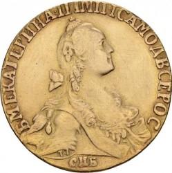 Moneda > 10rubles, 1766-1776 - Rússia  - obverse
