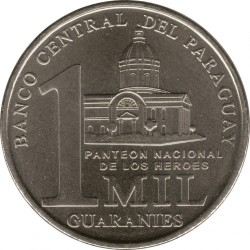 Coin > 1000 guaranies, 2006-2008 - Paraguay  - reverse