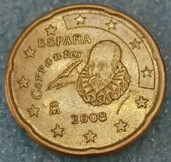 Монета > 20евроцента, 2007-2009 - Испания  - obverse