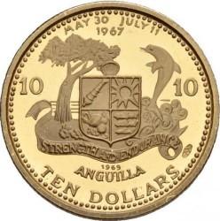 Νόμισμα > 10Δολάρια, 1969-1970 - Ανγκουίλα  - reverse
