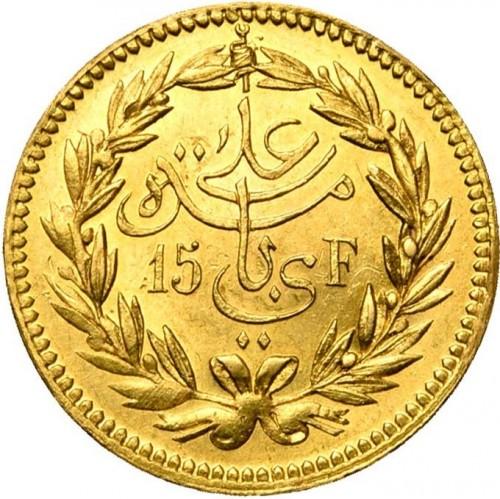 15 Franken 1890 1891 Tunesien Münzen Wert Ucoinnet