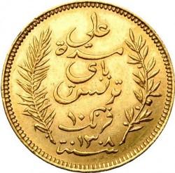 Moneda > 10francos, 1891-1902 - Túnez  - obverse