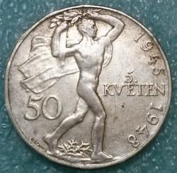 Moneta > 50corone, 1948 - Cecoslovacchia  (3° anniversario dell'insurrezione di Praga) - reverse