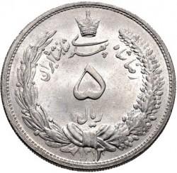 Moneta > 5rials, 1931-1934 - Iran  - obverse