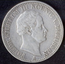 Монета > 1 талер, 1829-1840 - Прусия  (Lettering on the revese) - obverse
