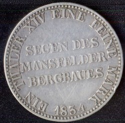 Монета > 1 талер, 1829-1840 - Прусия  (Lettering on the revese) - reverse