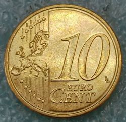 Moneta > 10eurocentów, 2007-2019 - Francja  - reverse