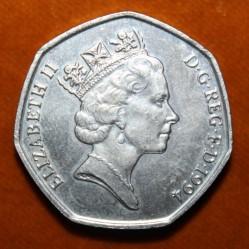 Moneta > 50pensów, 1994 - Wielka Brytania  (50 rocznica - Lądowanie w Normandii (D-Day)) - obverse