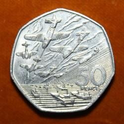 Moneta > 50pensów, 1994 - Wielka Brytania  (50 rocznica - Lądowanie w Normandii (D-Day)) - reverse
