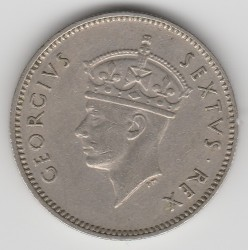 Coin > 50cents, 1948-1952 - British East Africa  - obverse