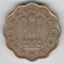 Mynt > 1anna, 1950-1954 - India  - obverse