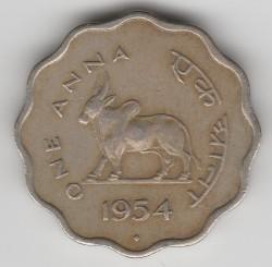 Mynt > 1anna, 1950-1954 - India  - reverse