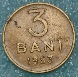 Coin > 3bani, 1953-1954 - Romania  - reverse