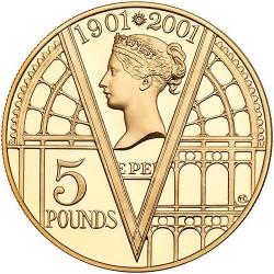 Moneta > 5funtów, 2001 - Wielka Brytania  (100 rocznica śmierci - Królowa Victoria ) - reverse