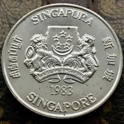Moneta > 10dolarów, 1983 - Singapur  (Chiński zodiak - Rok świni) - obverse