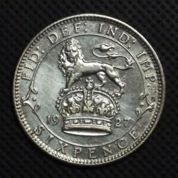 Mynt > 6pence, 1927 - Storbritannia  - reverse