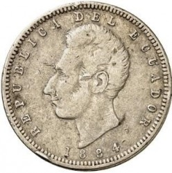 Pièce > ½sucre, 1884 - Équateur  - obverse