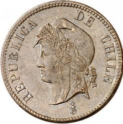 Monedă > 2½centavo, 1886 - Chile  - obverse
