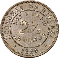Monedă > 2½centavo, 1886 - Chile  - reverse