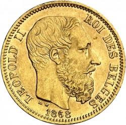 Minca > 20francs, 1867-1870 - Belgicko  - obverse