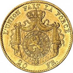 Minca > 20francs, 1867-1870 - Belgicko  - reverse