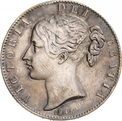 Coin > 1 crown, 1844-1847 - United Kingdom  - obverse