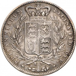 Coin > 1 crown, 1844-1847 - United Kingdom  - reverse