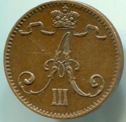 Кованица > 1пени, 1881-1894 - Финска  - reverse