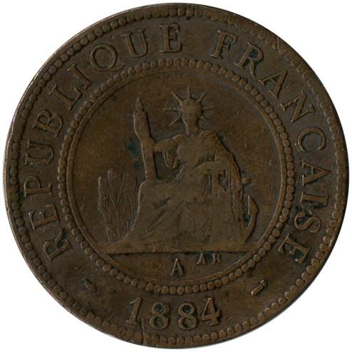 1 Centime 1879 1885 Französisch Cochinchina Münzen Wert Ucoinnet