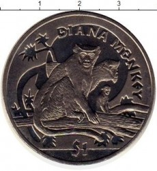 Moneta > 1dollaro, 2009 - Sierra Leone  (Scimmie - Cercopiteco diana ) - obverse