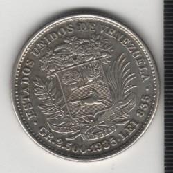 Монета > ½боливар, 1879-1936 - Венецуела  - obverse