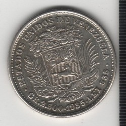 Монета > ½боливар, 1879-1936 - Венецуела  - reverse