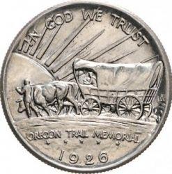 Moneta > ½dollaro, 1926-1936 - USA  (Viaggio lungo il sentiero dell'Oregon) - obverse