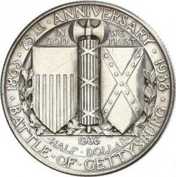 Moneta > ½dollara, 1936 - USA  (75 rocznica - Bitwa pod Gettysburgiem) - reverse