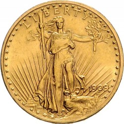 Coin > 20 dollars, 1909-1933 - USA  (Double Eagle) - obverse