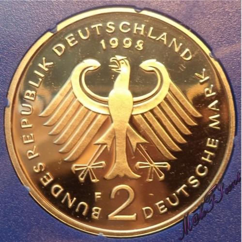 2 Mark 1998 Ludwig Erhard Deutschland Münzen Wert Ucoinnet