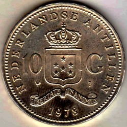 Moneda > 10florines, 1978 - Antillas Holandesas  (150º Aniversario - Banco de las Antillas Holandesas) - reverse