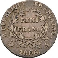 Pièce > ½franc, 1806-1807 - France  - reverse