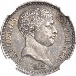 Mynt > ½franc, 1807 - Frankrike  (Old type: big portrait, w/o wreath) - obverse