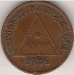 Moeda > 1centavo, 1912-1940 - Nicarágua  - obverse