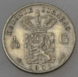 Pièce > 1/10gulden, 1901 - Curaçao  - obverse