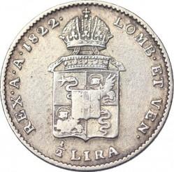 Νόμισμα > ½Λίρες, 1822-1824 - Λομβαρδία - Βενετία  - reverse