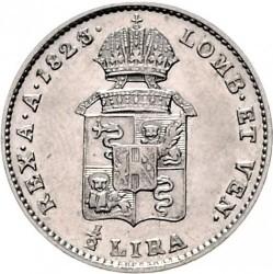 Монета > ½ліри, 1822-1824 - Ломбардо-Венеційське  - reverse